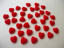 1'' FLOCKED PUFF HEART NEW LOT OF 36 PC LOVE VALENTINE CRAFT SUPPLY