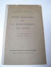 Cahour : Notice historique sur la BIBLIOTHEQUE de Laval
