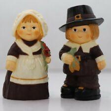 Vintage Hallmark Thanksgiving Miniatures - Pilgrim Couple