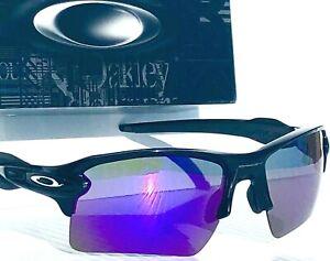 NEW* Oakley FLAK 2.0 BLACK w POLARIZED Galaxy VIOLET 2 lens set Sunglass 9188