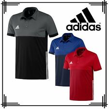 adidas Polo Shirt Mens T16 Sports Climacool Gym Running Male Clearance Stock Blue XL