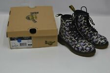 New DR MARTENS Delaney Girls Floral Print Black Mini Tydee Lace Boot US Size 13