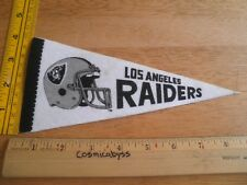 "Los Angeles Raiders 1980's felt pennant 9"" mini football helmet"