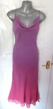 Monzón magníficos señoras tamaño 8 ❤ dos tono púrpura Shift Vestido 100% Seda Forrado