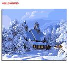 Snow Landscape Digital Oil Painting DIY Handpainted Oil Paintings Canvas Drawing