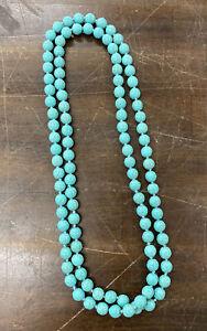 "Turquoise Beaded Single Strand 22"" Necklace"
