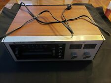 Works! rare vintage 70s recordable 8 Track Player Sanyo Rd 8020 A wood cabinet!