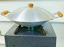 "Vintage Oster 14"" Electric Wok w/ Cord Thermostat Heat Controlled Non-Stick Cook"