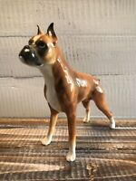 Vintage Ceramic Boxer Dog Cropped Ears Standing 6""