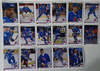 1990-91 Upper Deck UD Quebec Nordiques Team Set of 17 Hockey Cards