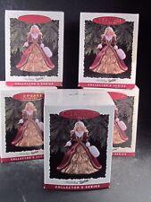 Hallmark Ornament Lot Of 5 1996 Holiday Barbie Series #4 Mib