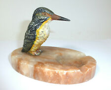 Wiener Bronze Aschenbecher um 1900 Eisvogel