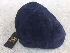"Medium Goorin Bros Brothers ""Wright"" Genuine Suede Black Flat Cap Duckbill NWT"