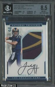 2016 National Treasures Holo Silver Jared Goff RC Jersey AUTO /25 AUTO BGS 8.5