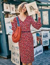 Boden Kleid - Hannah Dress - Langarm Muster Elegant  NEU - UK 8 EU 36