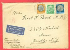 Germany Reich 3 diff stamp used on cover Censor to USA 1940