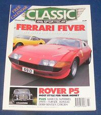 CLASSIC AND SPORTS CAR FEBRUARY 1995 - FERRARI FEVER/ROVER P5