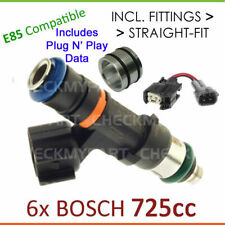 6x New *BOSCH* 725cc E85 Fuel Injector Set-up For Toyota Hilux VZN RZN 3.4L 6cyl