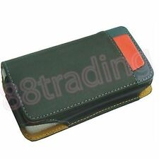 BLACK Horizontal Mobile Phone Leather Case Pouch with Belt Waist Clip LB3 Design