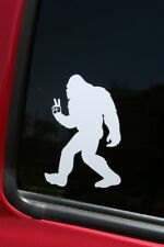 Bigfoot Flashing Peace Sign die-cut window sticker, Buy 2 get 1 FREE offer!