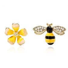 Asymmetrical Women Gift Bee Stud Earrings Fashion Jewelry Ear Stud Girls