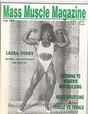 MASS MUSCLE MAGAZINE bodybuilding female wrestling /Laura Vukov 7-94