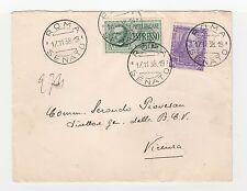 STORIA POSTALE 1938 REGNO C. 50+L.1,25 SU EX ROMA/SENATO 17/11 Z/5289