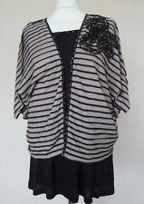 M&S Per Una Black Taupe Jersey Cami Top & Bolero Cardigan Set Plus Size 20 BNWT