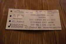 TICKET ERIC CLAPTON 1983 USA