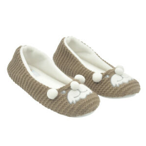 Winter Women's Comfy Cute Animal Warm Anti-Slip Soft Ballet Shoes