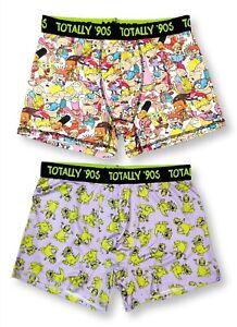 Large 36-38 Nickelodeon Mens Boxer Brief Underwear Rugrats Spongebob Ren Stimpy