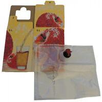 5L Bag in Box Beutel + Karton Apfel als Set (1,85€/1Stk)