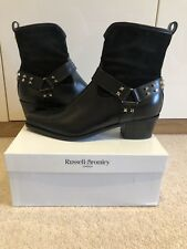 Russell Bromley Ladies Boots Size 40 41 Leather Suede Black Elegant New