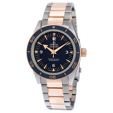 Omega Seamaster 300 Blue Dial Titanium and 18K Rose Gold Automatic Mens Watch