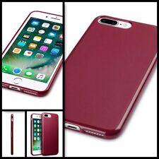 Apple Iphone 7 Cubierta de Estuche Micro Delgado Gel flexible resistente al impacto Parachoques Rojo