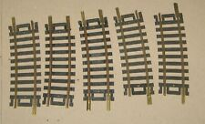 "HO SCALE  (5 PCS)  ATLAS  1/3 18"" R CURVED TRACK  (BRASS)"