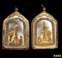 Chinese Buddha Kwan-yin Thai Amulet Pendant Talisman Guanyin Case Necklace K342