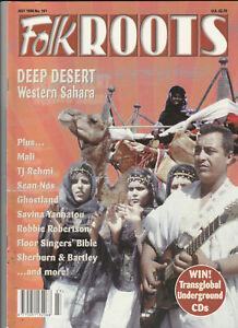 FOLK ROOTS Magazine July 1998 - Deep Desert: Western Sahara (Issue 181)