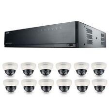 Samsung SRK-5120S 16Ch IP 8MP Poe NVR 3TB HD & 12x 1080p domo CCTV cámaras 3.6mm