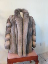 Crystal Fox Fur Stroller Coat  L