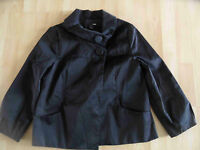 H&M edel schimmernde Jacke schwarz Gr. 36 w. NEU (MD 314)