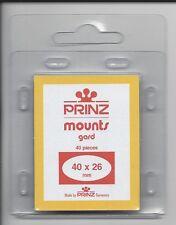 Package of 40 Prinz Clear Mounts 40 x 26