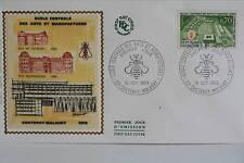 ENVELOPPE PREMIER JOUR SOIE 1969 ECOLE ARTS MANUFACTURE