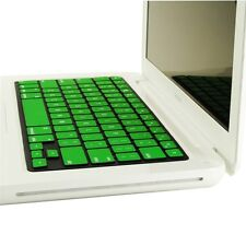 """REDUCE OVERHEAT ! GREEN Silicone Keyboard Cover for Macbook White 13"""" A1342"""