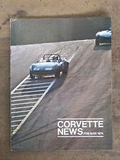 CORVETTE NEWS 1974 Volume 17 No 3  Excellent Condition
