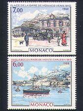 MONACO 1988 Auto/Barca/Nave/Stazione/Trasporto/Edifici/ART 2 V Set n33509