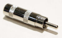 7.5mm RCA Phono Male Plug Tip Solder On Connector with Metal Housing
