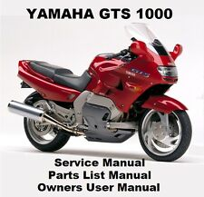 YAMAHA GTS1000 Service Repair Workshop Parts Owners Manual PDF on CD-R GTS 1000