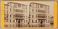 Palais Foscari Venezia Italia Foto Stereo PL55L2n Vintage Albumina c1870