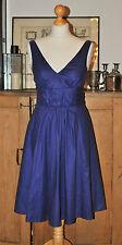 LADIES JOVONNA LONDON COTTON BLUE PARTY DRESS SIZE S
